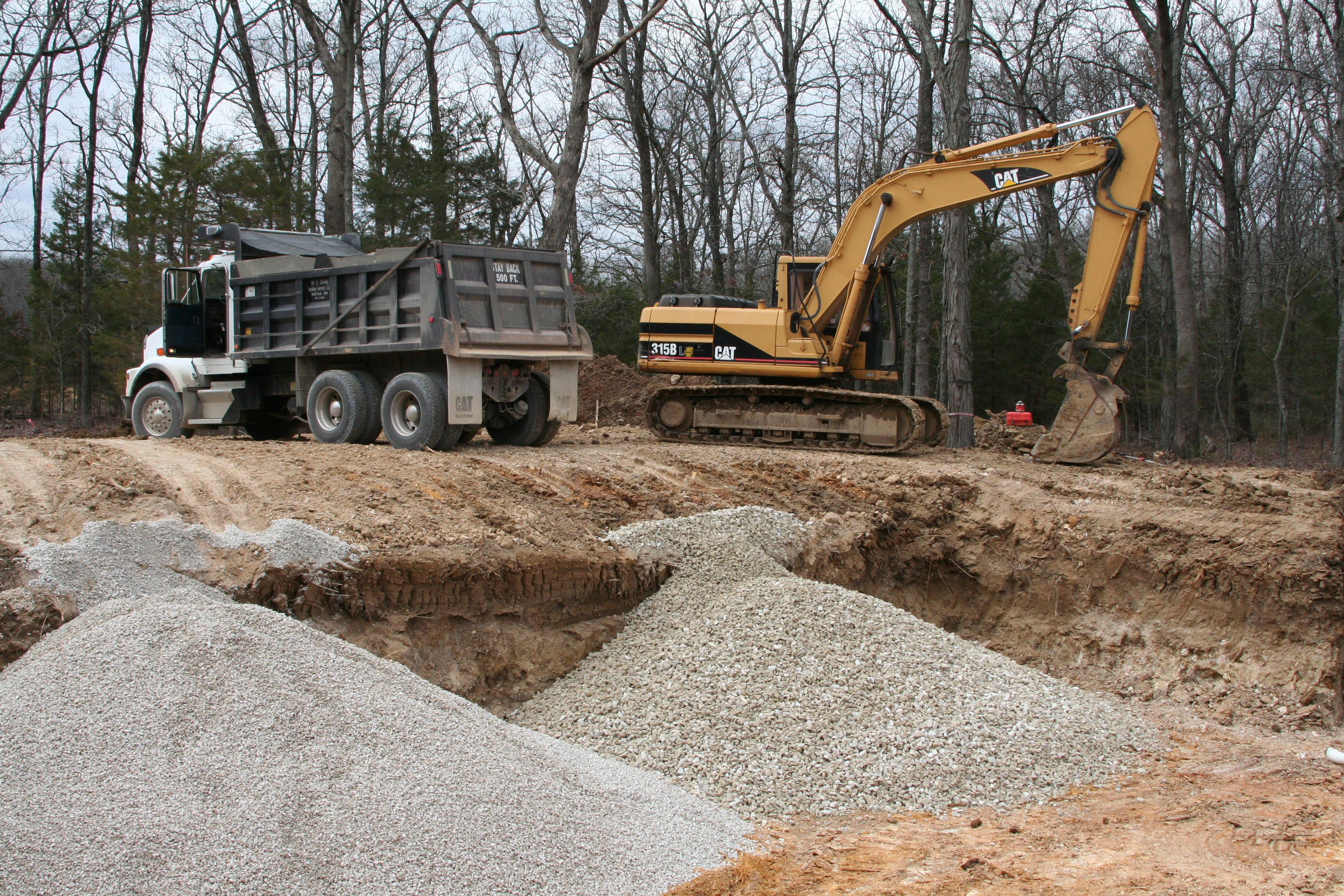 Building oak moon farm for Best backfill material for foundation